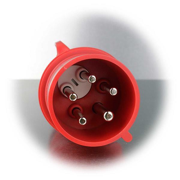 Starkstromanschluss 3-polig + N + PE, 6h für 230V oder 400V