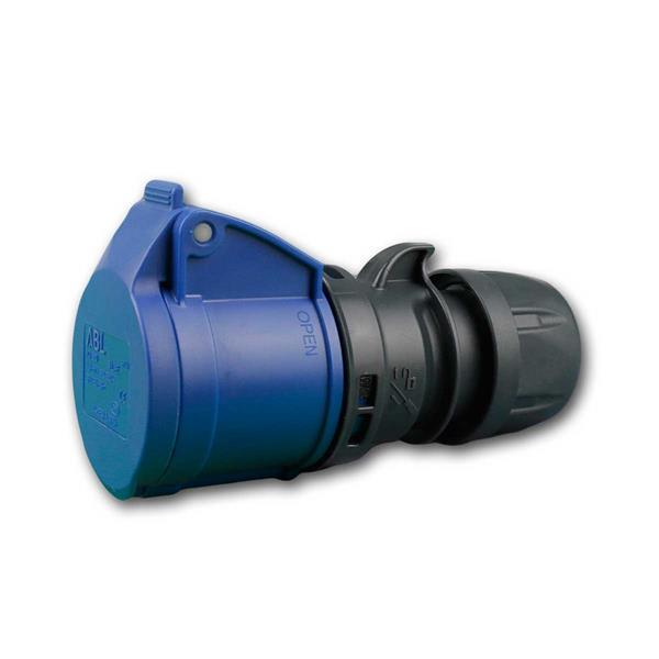 CEE Kupplung, 230V/16A, blau, 3-polig, IP44