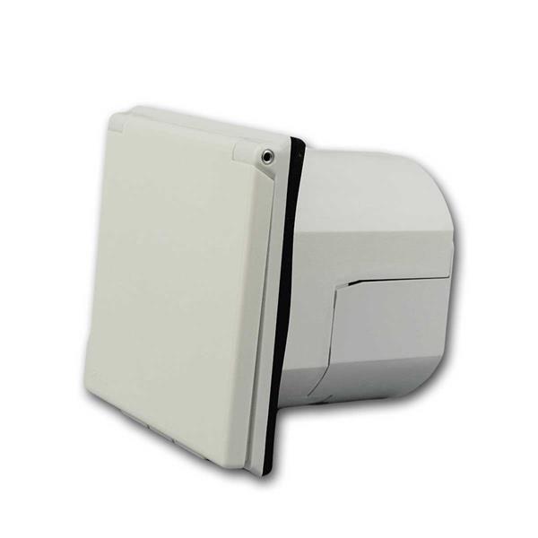 CEE  Einspeisedose 230V/16A weiß 3-polig, IP44
