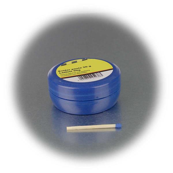 praktische Dose aus Kunststoff zur Aufbewahrung des Lötfettes