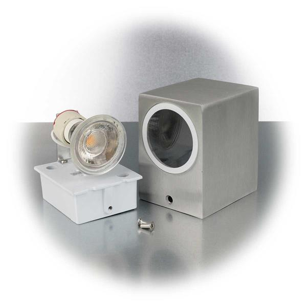 LED Außenleuchte mit Sockel GU10 für Leuchtmittel mit maximal 35W