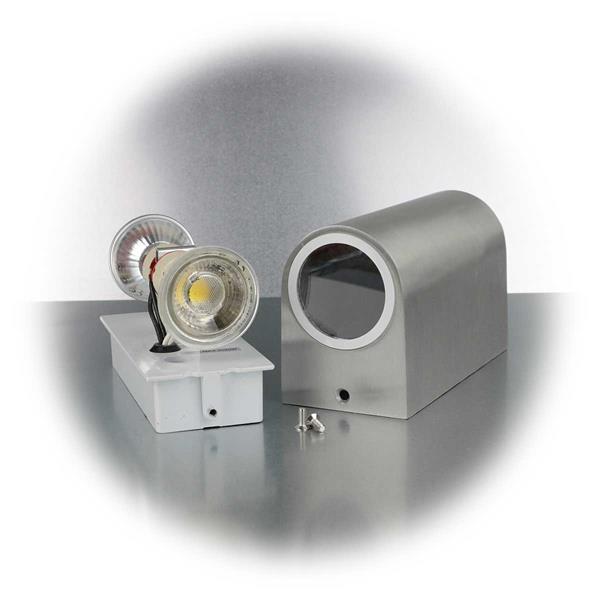LED Außenleuchte mit 2X Sockel GU10 für Leuchtmittel mit je 20W
