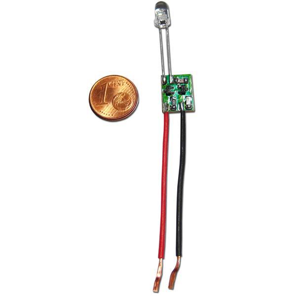 Konstantstrom-Elektronik mit angelöteter LED, austauschbar