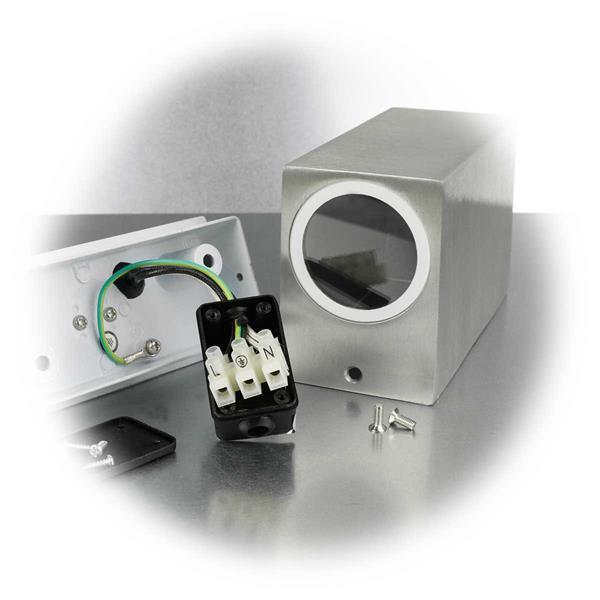 LED Wandlampe mit Alugehäuse für direkten Anschluss an 230V