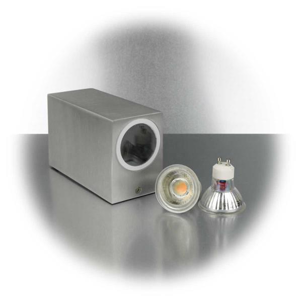 LED Spotleuchte mit zwei 5W GU10 COB LED Leuchtmittel