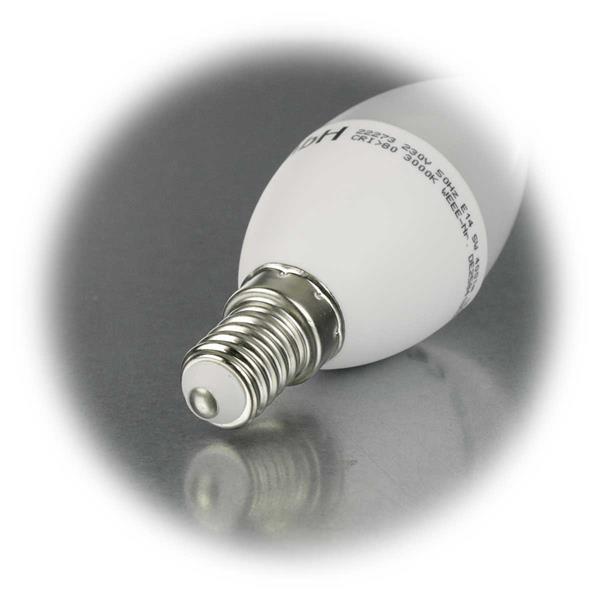 LED Kerzenleuchte mit Sockel E14 für 230V und nur 5W Verbrauch