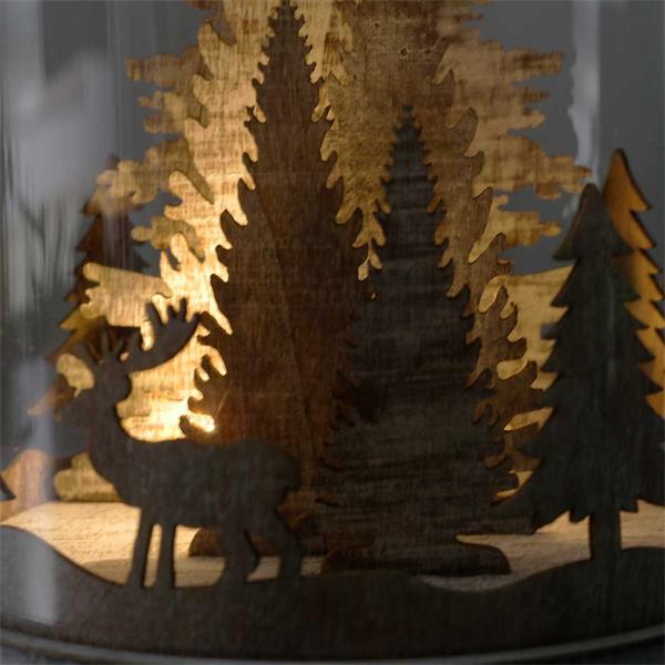 LED Glaskuppel erzeugt stimmungsvolles Licht in der Weihnachtszeit