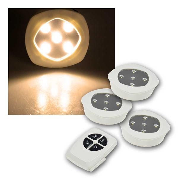 LED Unterbauleuchte CT Corro 2, 3er Set + Fernbedienung