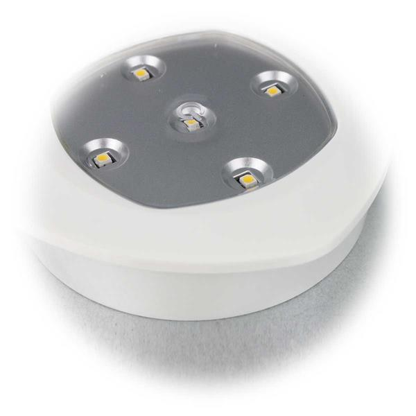 LED Batterie Downlight mit 5 SMD LEDs in warmweiß
