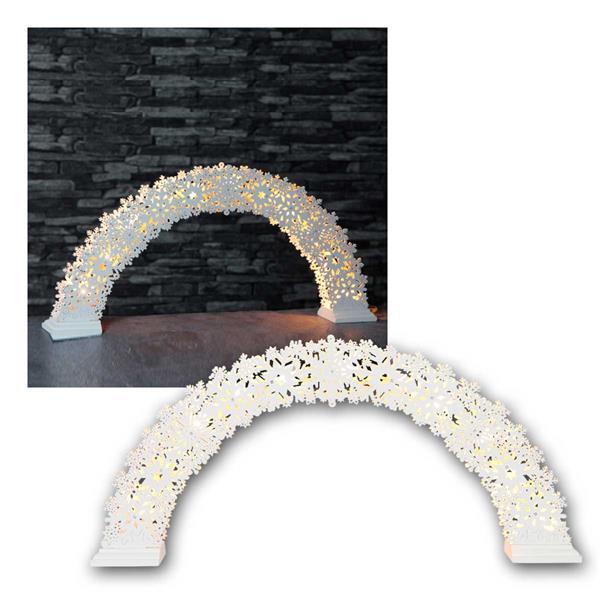 Fensterleuchter Schneeflocken Bogen 11 LED warmweiß