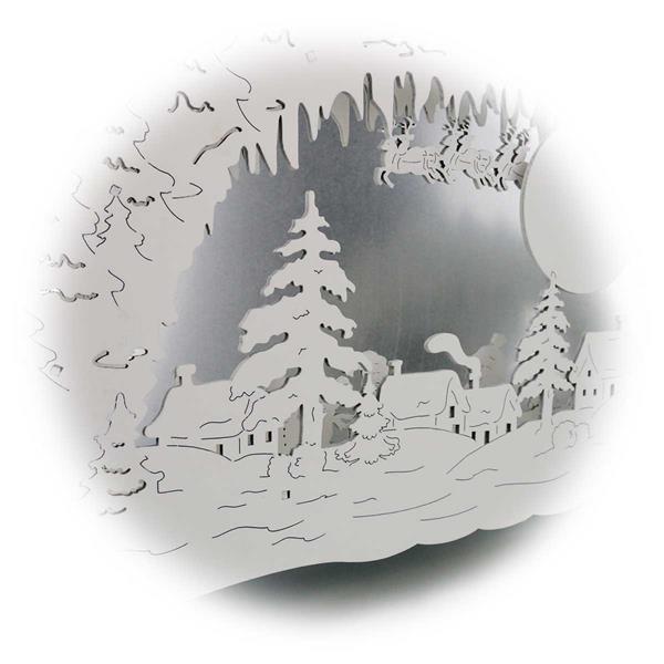 LED Weihnachtslichterbogen beidseitig mit liebevollen Details