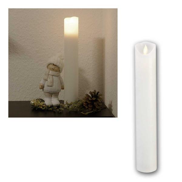 LED Stabkerze 30cm M-Twinkle mit Timer Echtwachs
