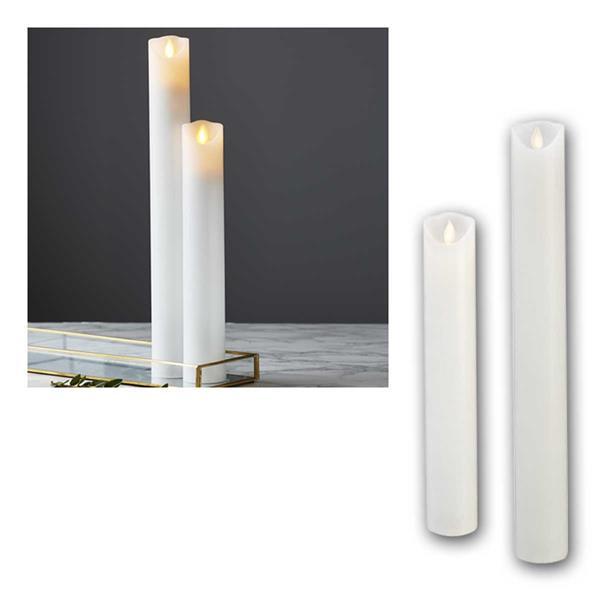 LED Stabkerze 30cm/40cm M-Twinkle mit Timer