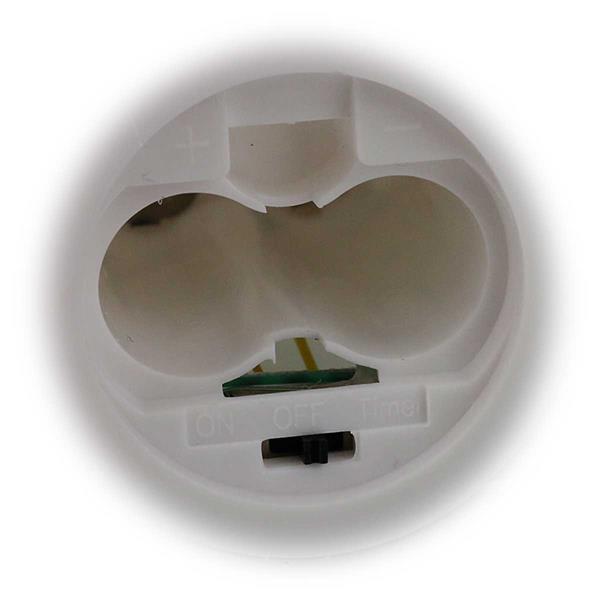LED-Stabkerze mit Echtwachsmantel in weiß