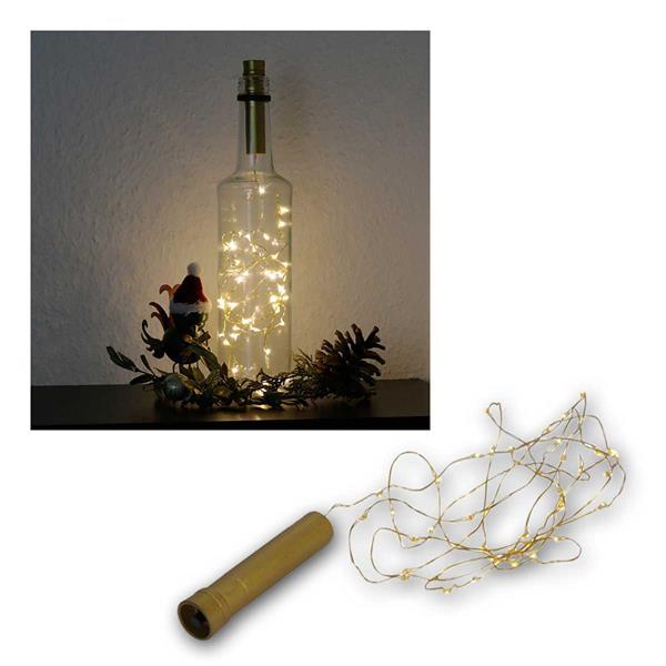 Draht-Lichterkette zB als Flaschenverschluß 40 LED