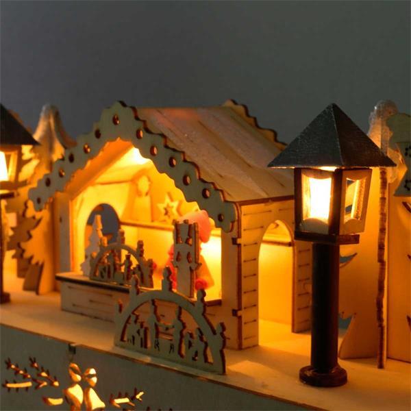 LED Adventsmarkt mit stimmungsvoller Atmosphäre für ein festliches Flair