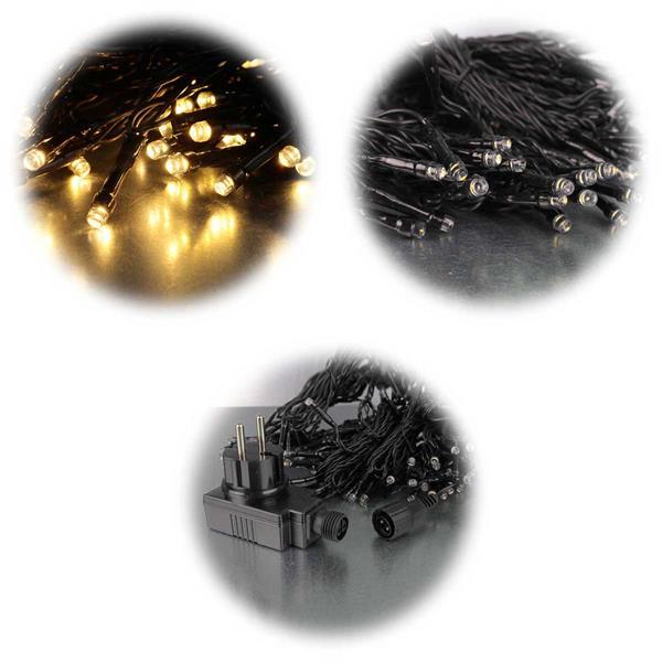 Lichtervorhang mit 8 Strängen für Bäume mit ca. 2m Höhe