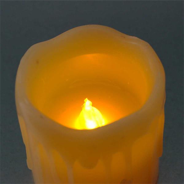LED Wachskerzen imitieren eine natürliche Flamme