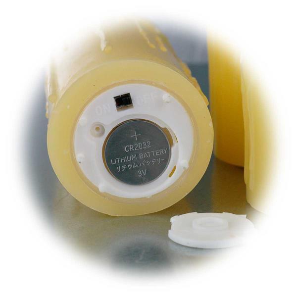LED Stumpenkerzen für Batteriebetrieb mit je 1x Knopfzelle CR2032