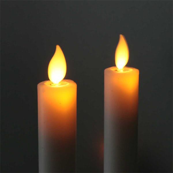 LED Dekokerzen imitieren eine naturliche Flamme durch Flackereffekt