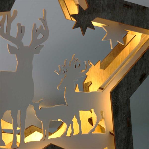 LED Leuchtstern mit stimmungsvoller Atmosphäre für ein festliches Flair