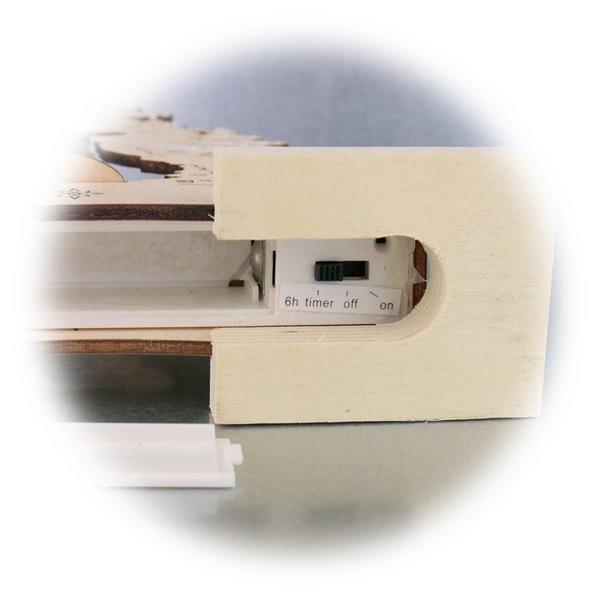 LED Fensterdekoration mit Batteriebetrieb und Timerfunktion