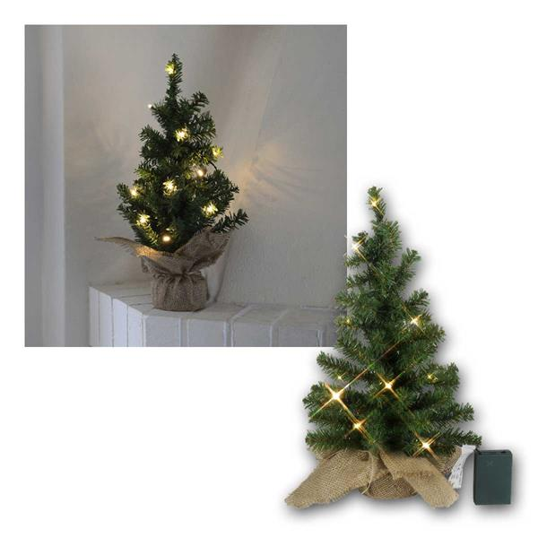 Tannenbaum Toppy 45cm 10 LED warmweiß, Batterie & Timer