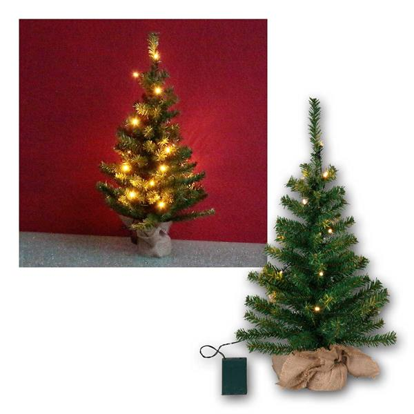 Tannenbaum Toppy 60cm 20 LED warmweiß, Batterie Timer