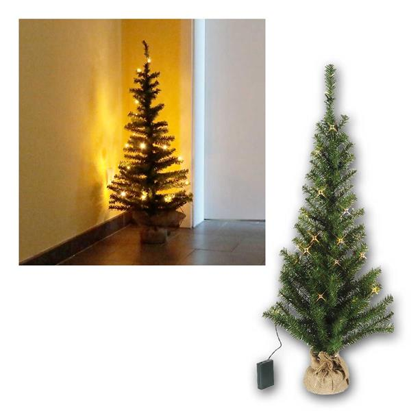 Tannenbaum Toppy 90cm 30 LED warmweiß, Batterie Timer