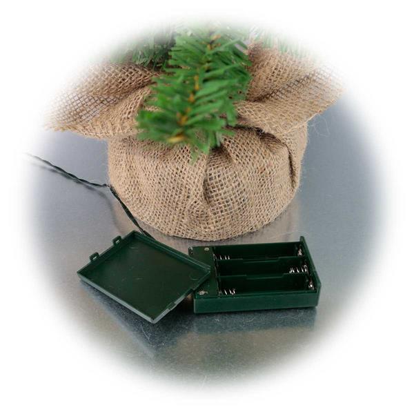 LED Weihnachtsdeko mit Batteriebetieb und Timerfunktion