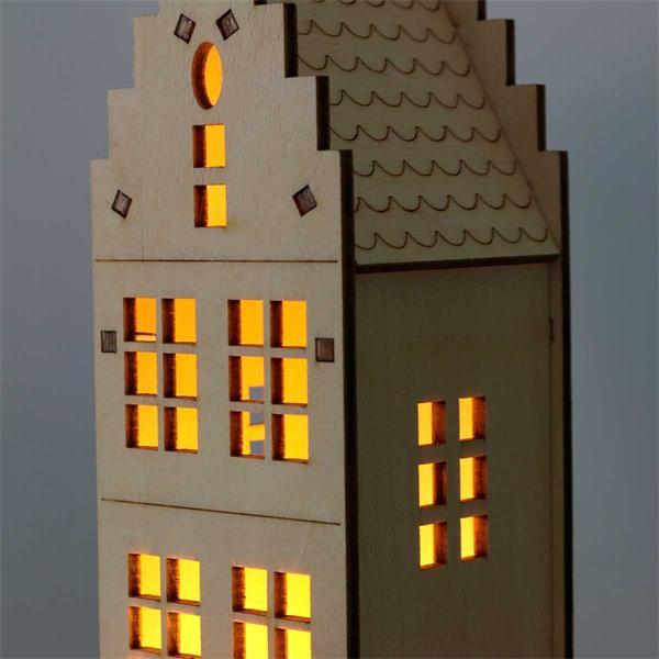 LED Lichterhaus mit stimmungsvoller Atmosphäre für ein festliches Flair