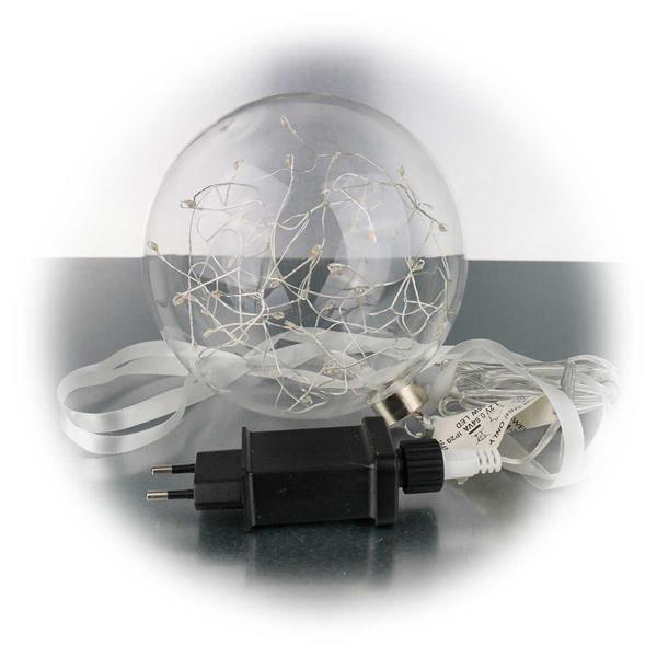 LED Leuchtkugel mit Netzteil für 230V Anschluss