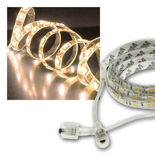 LED Stripe 2m, warmweiß 1750lm, 12V/20W, IP44