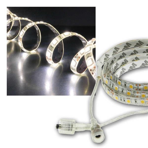 LED Stripe 2m, neutralweiß, 1800lm, 12V/20W, IP44