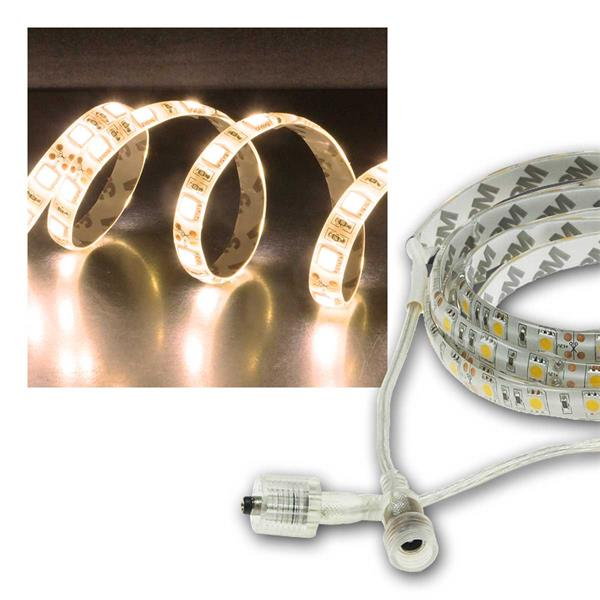 LED Stripe 5m, warmweiß 4300lm, 12V/50W, IP44