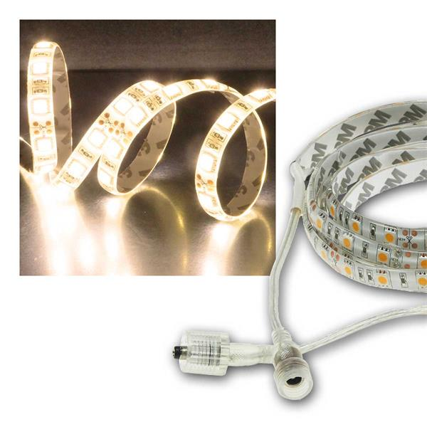 LED Stripe 10m, warmweiß 8300lm, 12V/100W, IP44