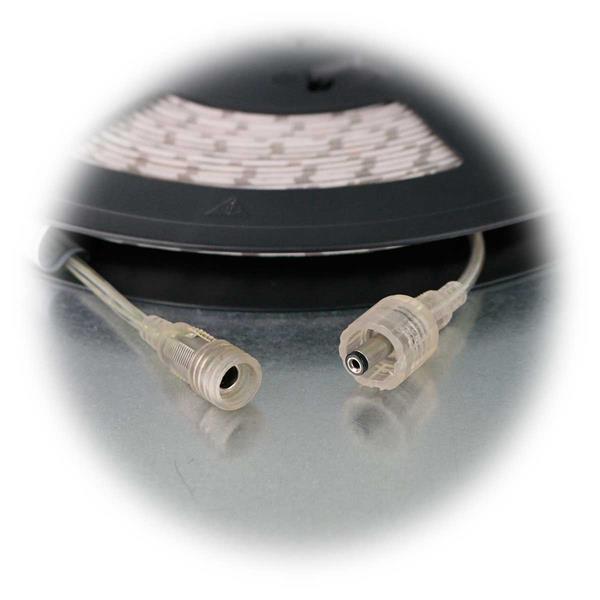 kürzbarer LED Strip mit 3,5mm Netzstecker und -kupplung