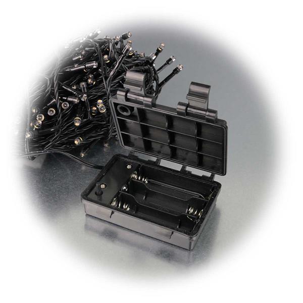 LED Batterie Lichterkette mit IP44 für drei AA Batterien
