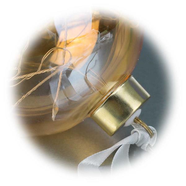 Micro LED Lichterkette in Inneren der Glaskugel