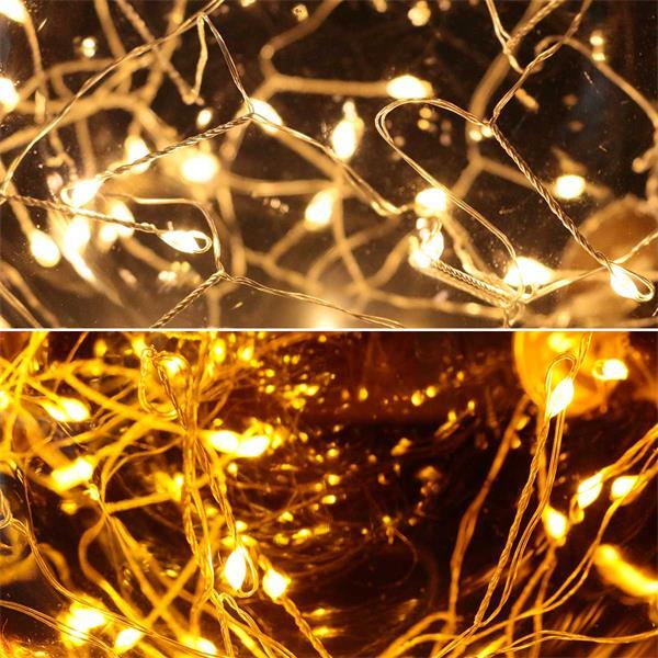 LED Glaskugel in 2 Größen mit 15/40 warmweißen LEDs