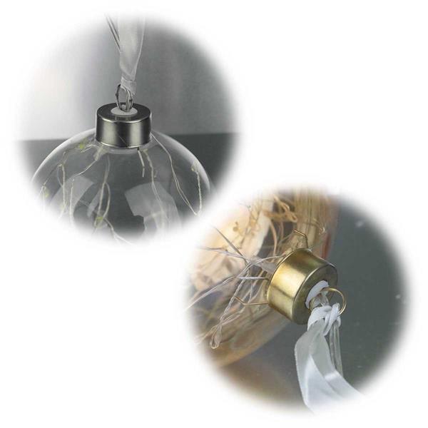 LED-Glaskugel mit klarem oder orangenem Glaskörper