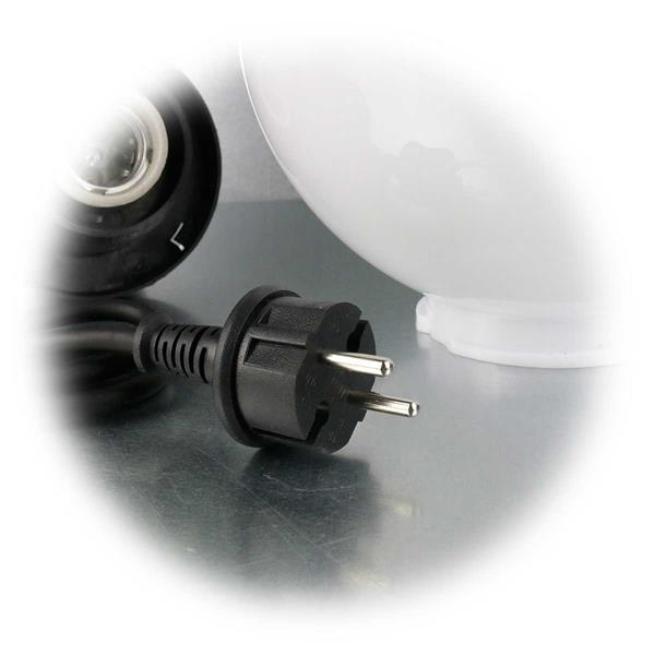 LED Kugellampe mit Netzstecker für Anschluss an 230V