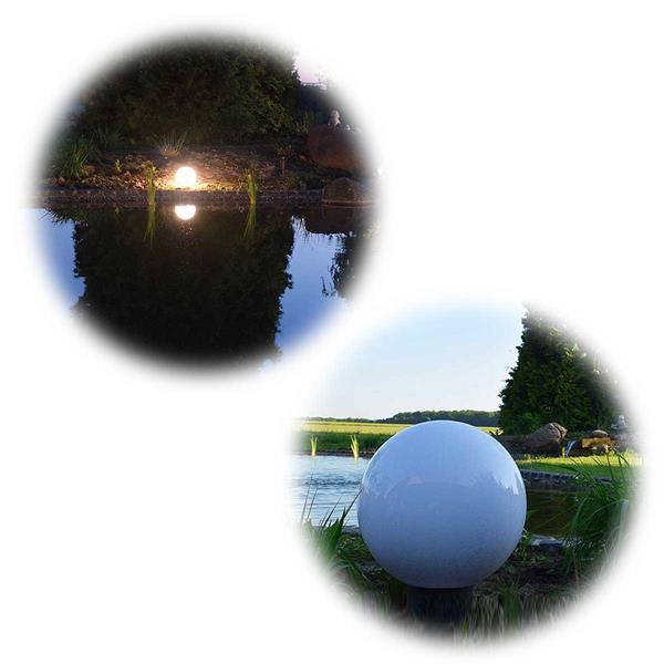 Kugelleuchte für Außen mit 20 oder 30cm Durchmesser