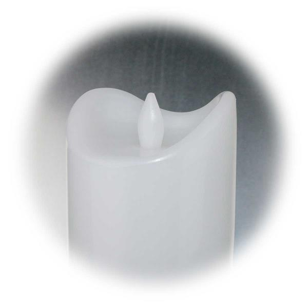 LED Kerze mit spritzwassergeschütztem Kunststoffmantel