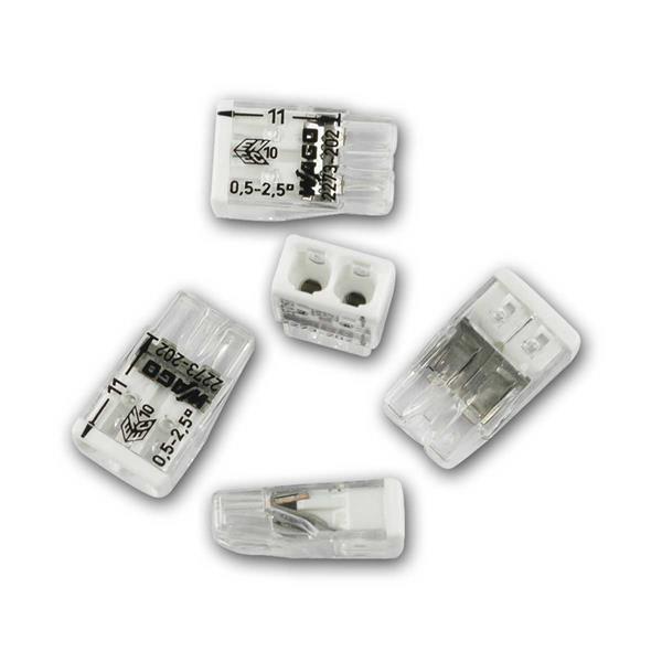 10 WAGO Compact Steckklemmen 2x 0,5-2,5 mm² weiß