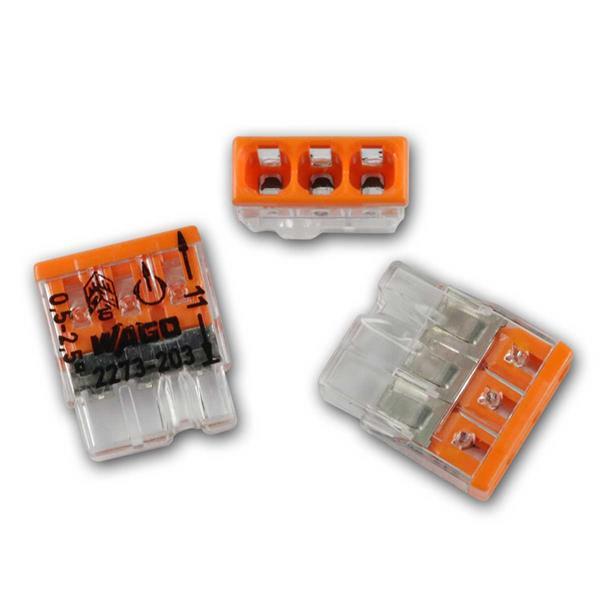 10 WAGO Compact Steckklemmen 3x 0,5-2,5 mm² orange