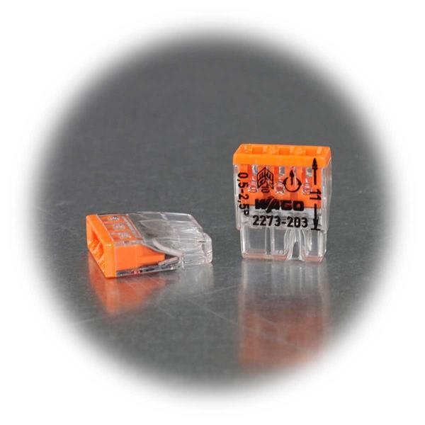Wago Klemme mit transparenter Gehäusefarbe