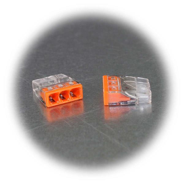 Dosenklemme für 3 Leitungen von 0,5 bis 2,5mm²