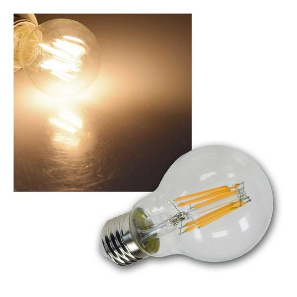 E27 Birne klar Filament G60k LED warmweiß 750lm 8W