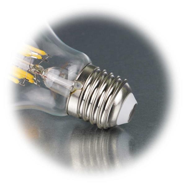 LED Lampe mit Sockel E27 für 230V 8W Verbrauch